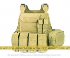 Pantac MOLLE Style PC Plate Carrier (Khaki / Small / CORDURA